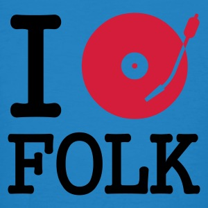 :: I dj / play / listen to folk :-: - T-shirt bio Homme