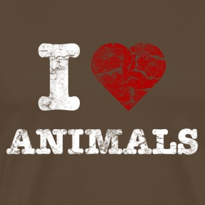 i_love_animals_vintage_hell T-shirts - Mannen Premium T-shirt