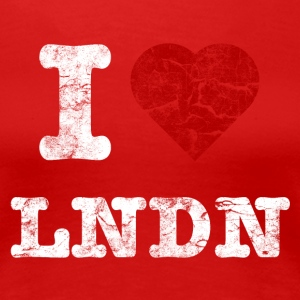 I Love LoNDoN vintage light Tee shirts - T-shirt Premium Femme