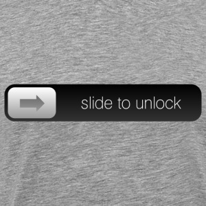 slide to unlock T-shirts - Herre premium T-shirt