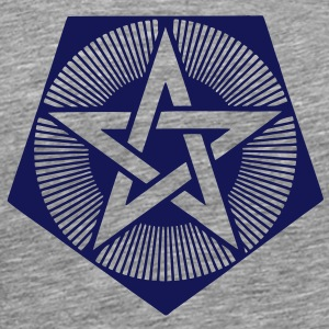 Light Pentagram - crop circle - Bedfordshire GB T-Shirts - Men's Premium T-Shirt