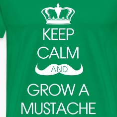 T-shirt Keep Calm Grow Mustache