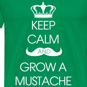 T-shirt Keep Calm Grow Mustache - Premium-T-shirt herr