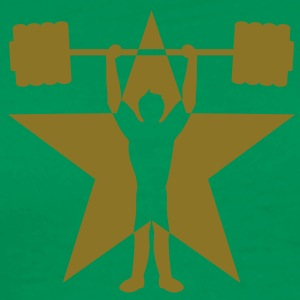 weightlifting_star T-shirts - Herre premium T-shirt