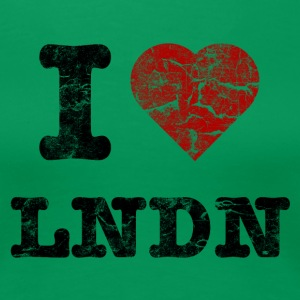 I Love LoNDoN vintage dark T-shirts - Premium-T-shirt dam
