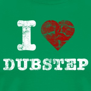 I Love DUBSTEP vintage light T-shirts - Mannen Premium T-shirt