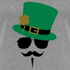 Go Green Moustache T-Shirts