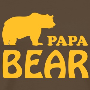 papa bear daddy dad T-Shirts - Men's Premium T-Shirt