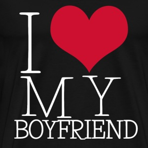 I LOVE MY BOYFRIEND / GIRLFRIEND - Männer Premium T-Shirt