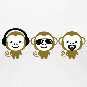 three_monkeys T-shirts - Vrouwen Premium T-shirt