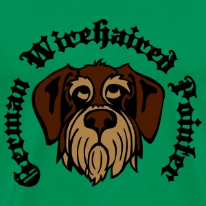 wirehaired_pointer_face_3c T-Shirts - Men's Premium T-Shirt