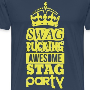 SWAG AWESOME STAG PARTY Camisetas - Camiseta premium hombre