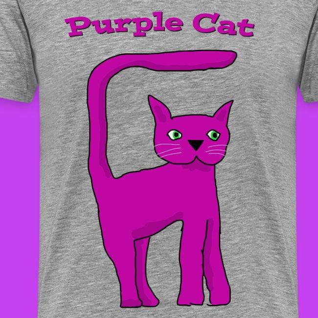 Purple Cat Kids Eco T Shirt