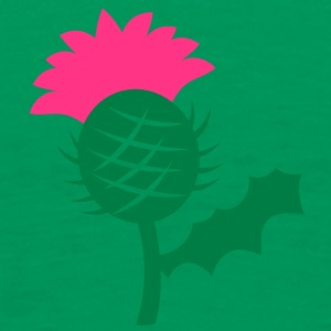 single head flower of Scottish Thistle Scotland T-Shirts - Men's Premium T-Shirt