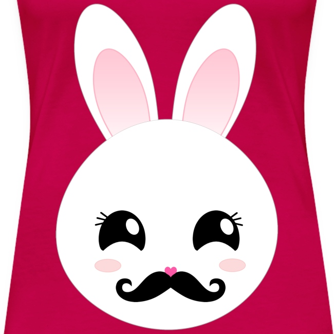 Moustache Bunny Hase Pink T-Shirt