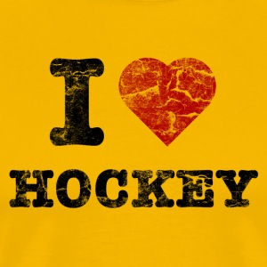 I Love Hockey vintage dark T-Shirts - Men's Premium T-Shirt