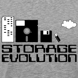 personal computer storage evolution T-Shirts - Men's Premium T-Shirt