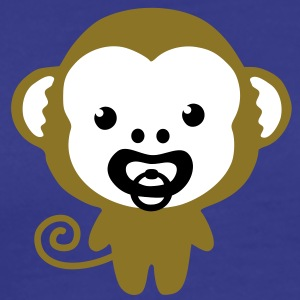 monkey with soother T-shirts - Herre premium T-shirt