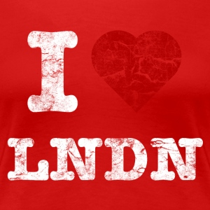 I Love LoNDoN vintage light T-shirts - Vrouwen Premium T-shirt