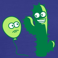 cactus_and_balloon T-Shirts