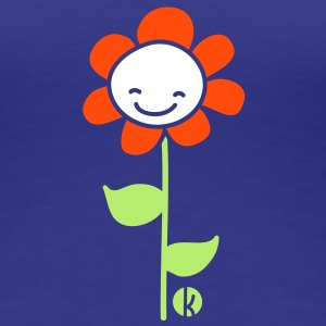 Fröhliche Blume - Cheerful Flower T-shirts - Vrouwen Premium T-shirt
