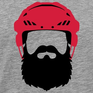 Eishockey Bart - Hockey Beard Helmet T-Shirts - Men's Premium T-Shirt