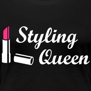 Styling Queen * Design Style Fashion Lipstick T-Shirts - Women's Premium T-Shirt