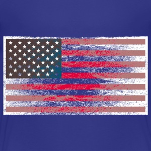 Kindershirt USA-Flagge (Grunge Style) - Kinder Premium T-Shirt