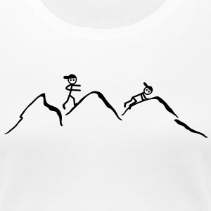 Climber in the mountains T-Shirts - Women's Premium T-Shirt