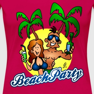 Beach party T-skjorter - Premium T-skjorte for kvinner