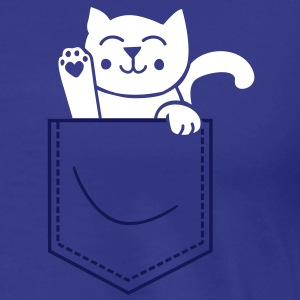 kitty in pocket T-skjorter - Premium T-skjorte for menn