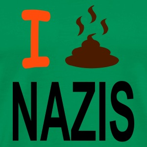 shirt i shit on nazis - Männer Premium T-Shirt