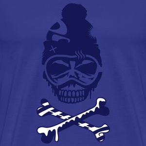 A skull with snowboard goggles and a cap T-Shirts - Men's Premium T-Shirt