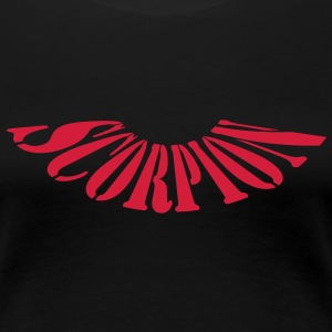 scorpion_text T-shirts - Dame premium T-shirt