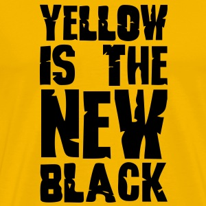 Yellow is the new black - Men's Premium T-Shirt