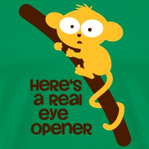 Eye Opener / Monkey / tarsier on the trunk T-Shirts - Men's Premium T-Shirt