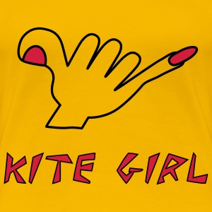 kite girl T-Shirts - Frauen Premium T-Shirt