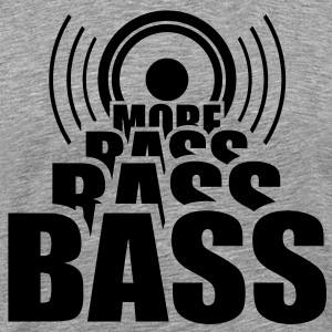 More BASS. Speaker Speaker Cab music T-shirts - Mannen Premium T-shirt