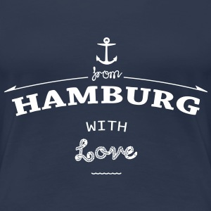 From Hamburg with love T-Shirts - Frauen Premium T-Shirt