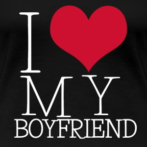 I LOVE MY BOYFRIEND / GIRLFRIEND - Frauen Premium T-Shirt