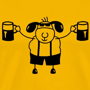 Sheep with beer T-Shirts - Men's Premium T-Shirt