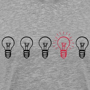 Evolution bulb  T-Shirts - Men's Premium T-Shirt
