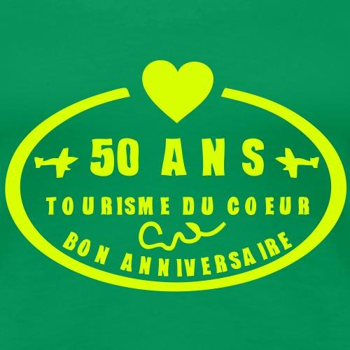 50 ans tampon poste anniversaire coeur