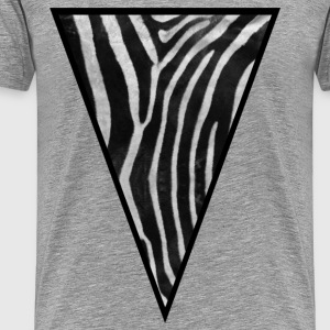 Triangle Zebra - Men's Premium T-Shirt