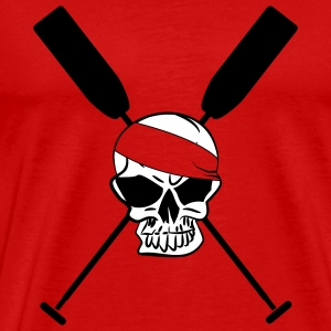 Crossed paddle skull dragon boat canoe 2 c. T-Shirts - Men's Premium T-Shirt