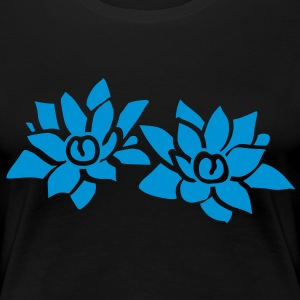 Flower Lotus T-Shirts - Women's Premium T-Shirt