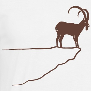 ibex capricorn alpine the alps bavaria mountains T-Shirts - Men's T-Shirt