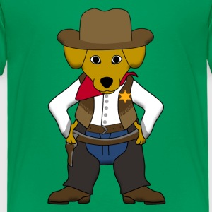 Sheriff dog Skjorter - Premium T-skjorte for barn