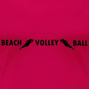 Beachvolleyball,volleyball,beach,netz,strand,sonne T-Shirts - Frauen Premium T-Shirt