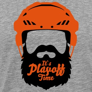 Eishockey Playoff Bart - Hockey Beard Helmet 2 T-Shirts - Men's Premium T-Shirt